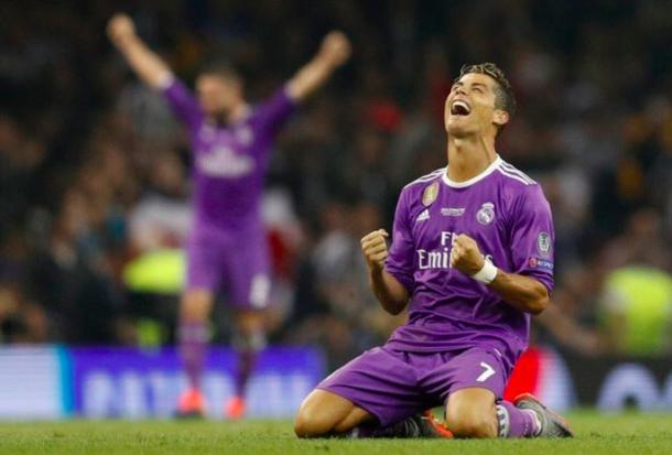 Cristiano celebrando el pitido final/ FOTOGRAFÍA: UEFA.com