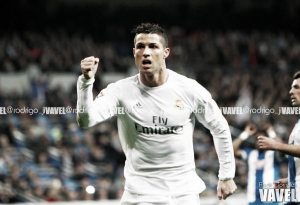 Cristiano celebrando un gol con el Real Madrid