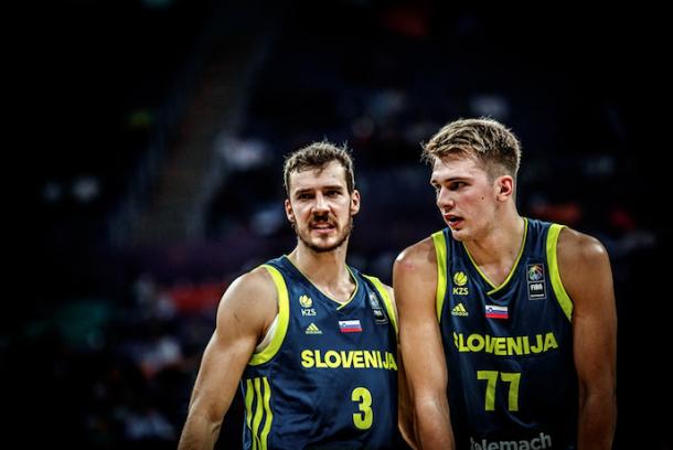 Goran Dragic y Luka Doncic son las dos grandes esperanzas eslovenas. | Fotografía: FIBA