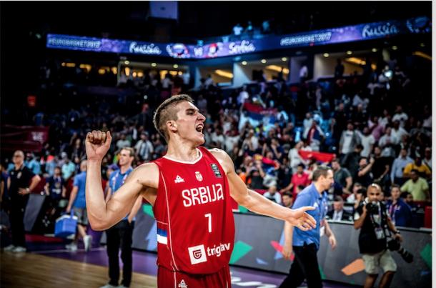 Bogdan Bogdanovic se ha erigido como el gran líder serbio. | Fotografía: FIBA