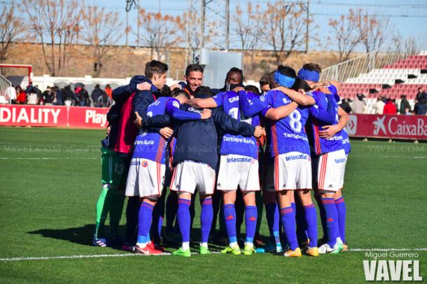 El equipo celebra la reciente victoria ante Sevilla Atlético | Imagen: VAVEL