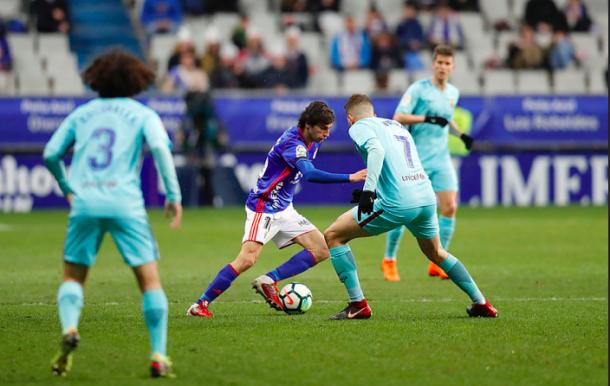 Fabbrini llama a las puertas del once titular   Imagen: Real Oviedo