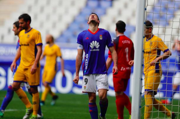 Toché no fue capaz de subir ningún tanto en el electrónico | Imagen: Real Oviedo