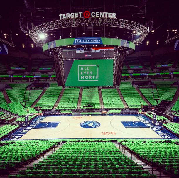 El Target Center se llenará en una noche que puede llegar a ser mágica | Foto: @Timberwolves