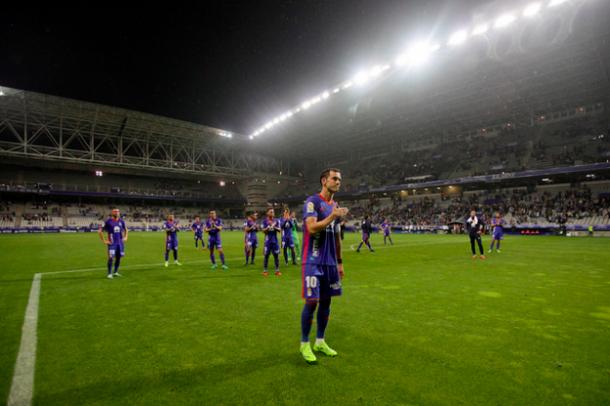 Miguel Linares agradece al Fondo Norte 1926 todo el apoyo | Imagen: Real Oviedo