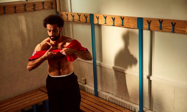 Salah durante un spot publicitario | Foto: Adidas