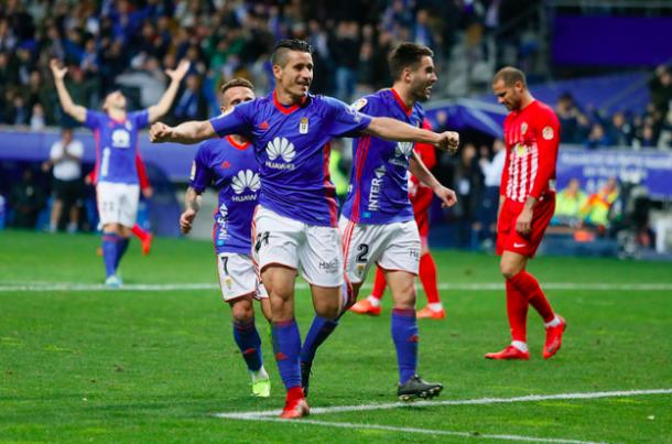 Saúl Berjón acabó siendo elegido mejor jugador carbayón | Imagen: Real Oviedo