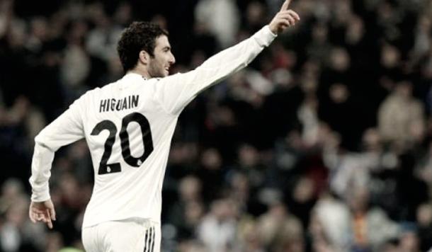Higuaín en su etapa como merengue. Foto: Real Madrid.