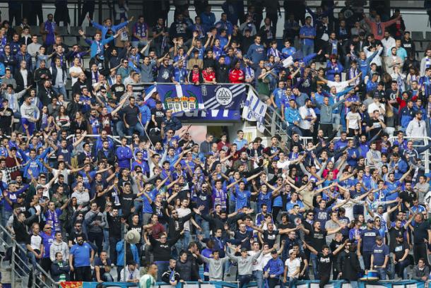 Foto del Fondo Norte en el último encuentro   Imagen: Real Oviedo