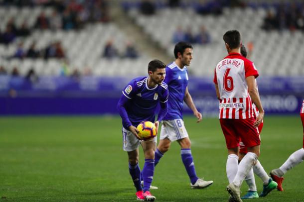 Omar Ramos debutó como jugador azul | Imagen: Real Oviedo