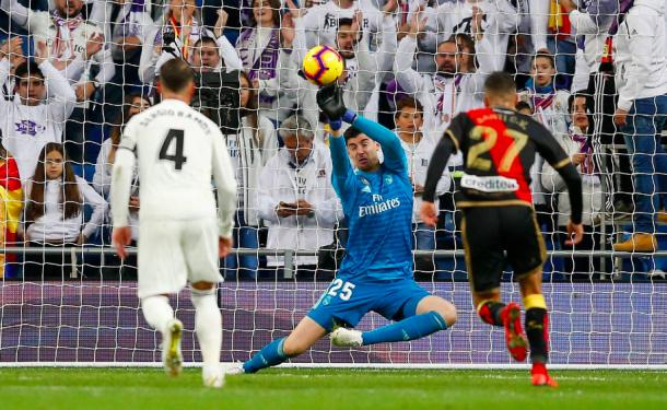 Courtois salva al Madrid en el descuento. Foto: Real Madrid.