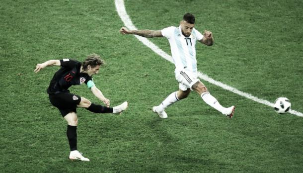 El gol de Modric ante Argentina. Foto: FIFA.com