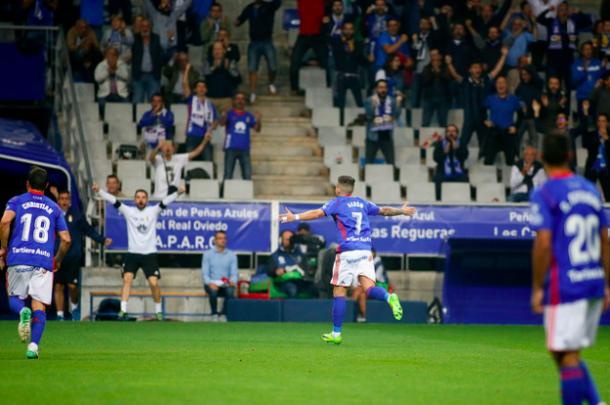 Aarón Ñíguez, odiado y querido a partes iguales | Imagen: Real Oviedo