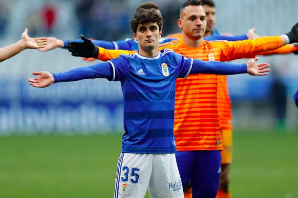 Jorge Mier debutó con el primer equipo   Imagen: Real Oviedo