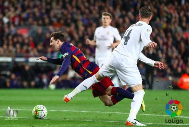 Messi será duda para la ida del Clásico. Foto: LaLiga.