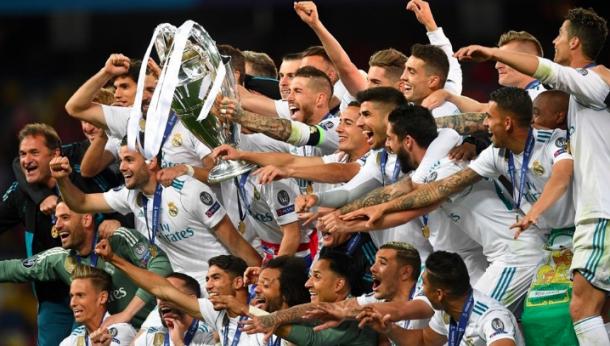 El Real Madrid levanta 'La Decimotercera'. Foto: UEFA.com.