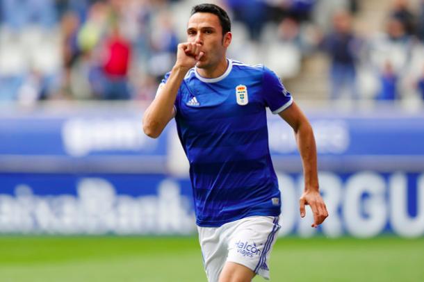 Ramón Folch celebra su gol al Albacete | Imagen: Real Oviedo