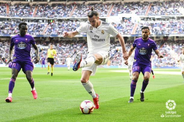 Bale ayudando en tareas defensivas. Foto: Liga Santander.