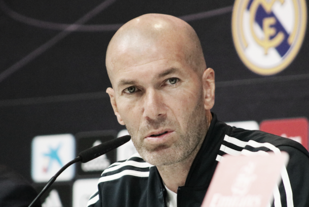 Zidane en rueda de prensa. Foto: Federico Titone.