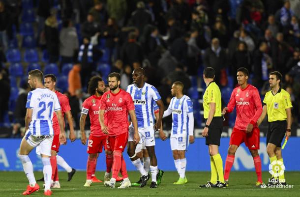 El Real Madrid empata en Butarque. Foto: Liga Santander.