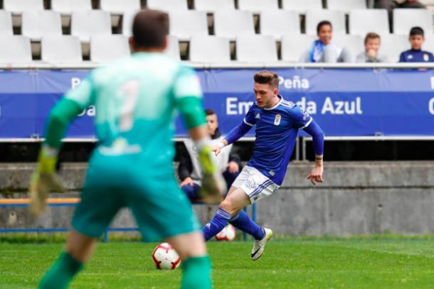Viti fue de los mejores sobre el verde | Imagen: Real Oviedo