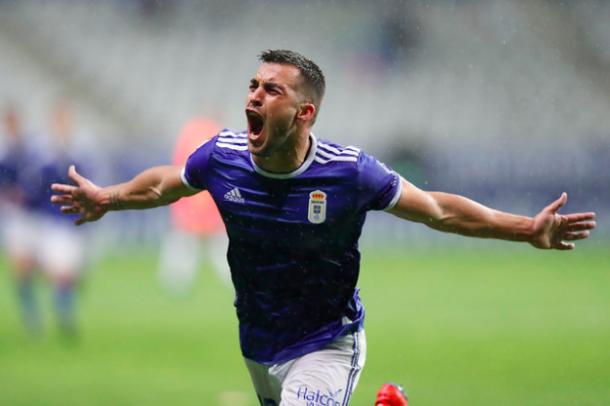Joselu, desatado | Imagen: Real Oviedo