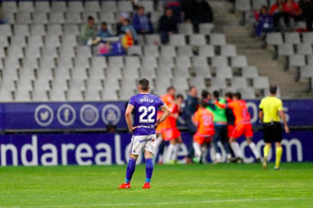 Incredulidad tras el 1-3 | Imagen: Real Oviedo