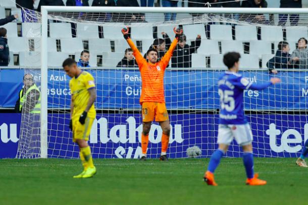 Nereo se hizo con la portería azul | Imagen: Real Oviedo