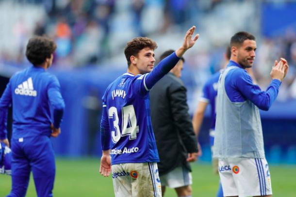 Excelente irrupción de Jimmy |Imagen: Real Oviedo
