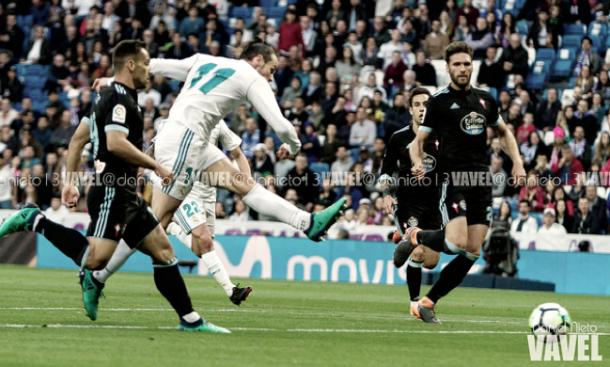 Bale marcando un gol ante el Celta. FOTO: VAVEL.