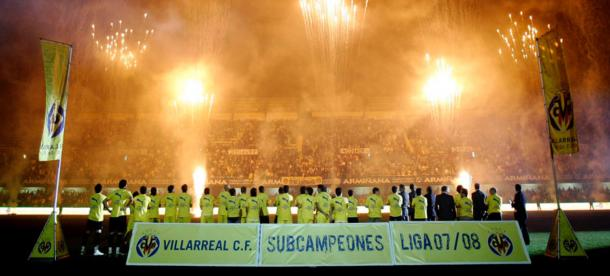 Subcampeones 2007/2008 / Foto: Villarreal CF