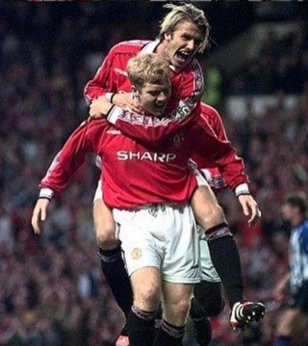 David Beckham durante su etapa en el Manchester United   Foto: @davidbeckham