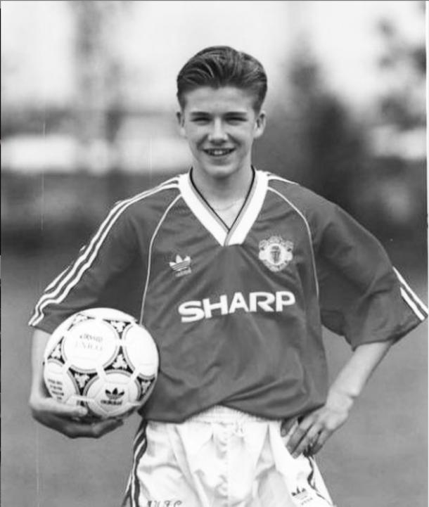 David Beckham durante su etapa en el Manchester United | Foto: @davidbeckham