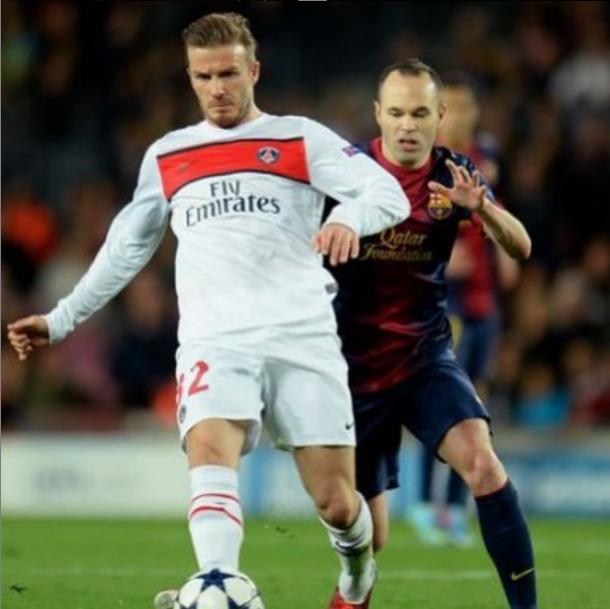 El inglés se retiró del fútbol profesional tras vestir la camiseta del PSG   Foto: @davidbeckham