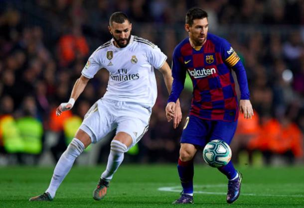 Leo Messi (25) y Karim Benzema (21) lucharon por el pichichi hasta la última jornada | Fotografía: Pablo Morano // Getty Images