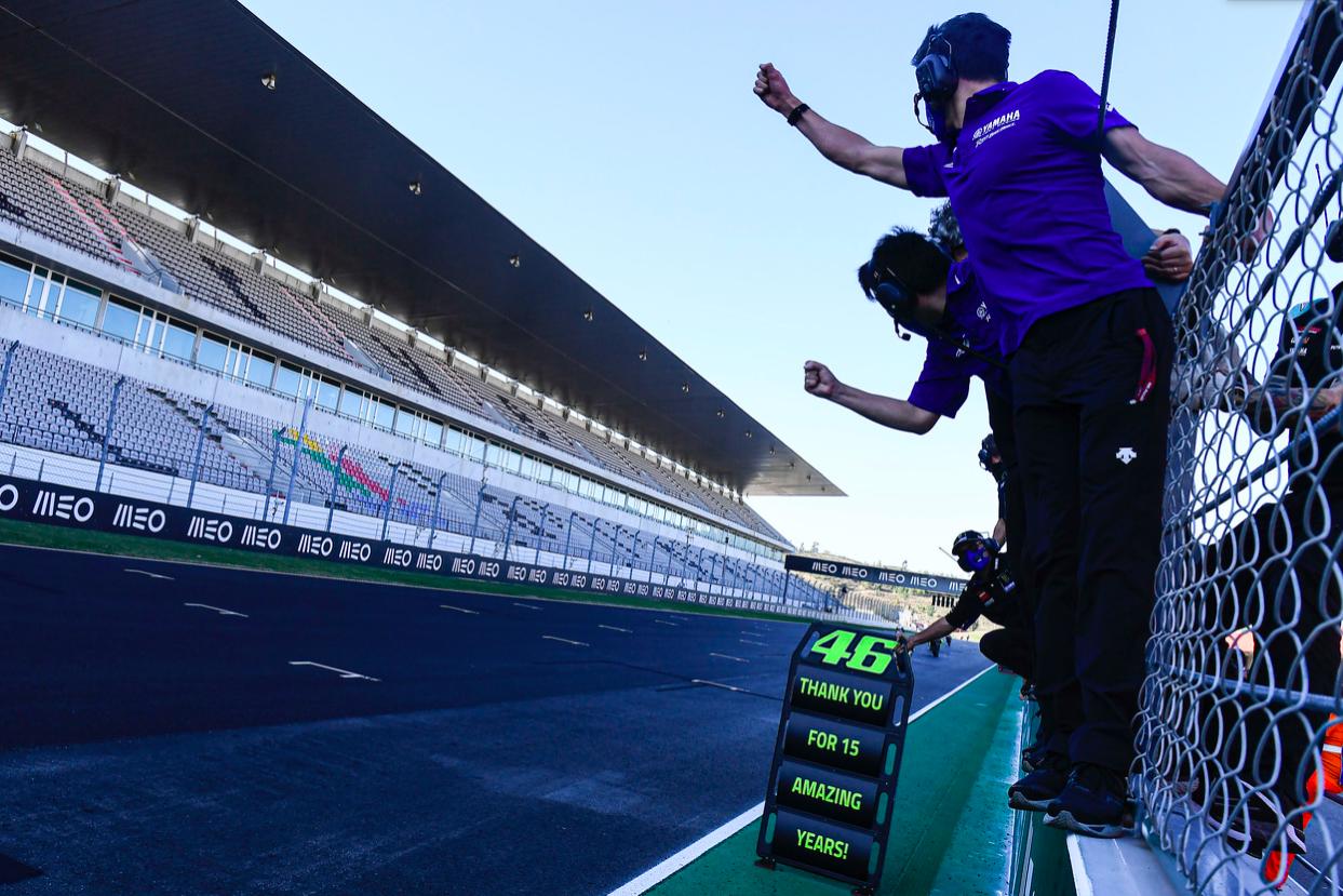 El equipo le da las gracias a Valentino Rossi / Fuente: