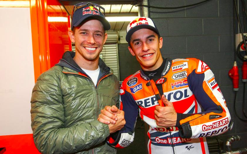 Casey Stoner y Marc Márquez / Fuente: motogp.com