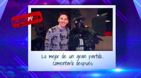 Leo Messi y cuervo / Fuente: Mask Singer