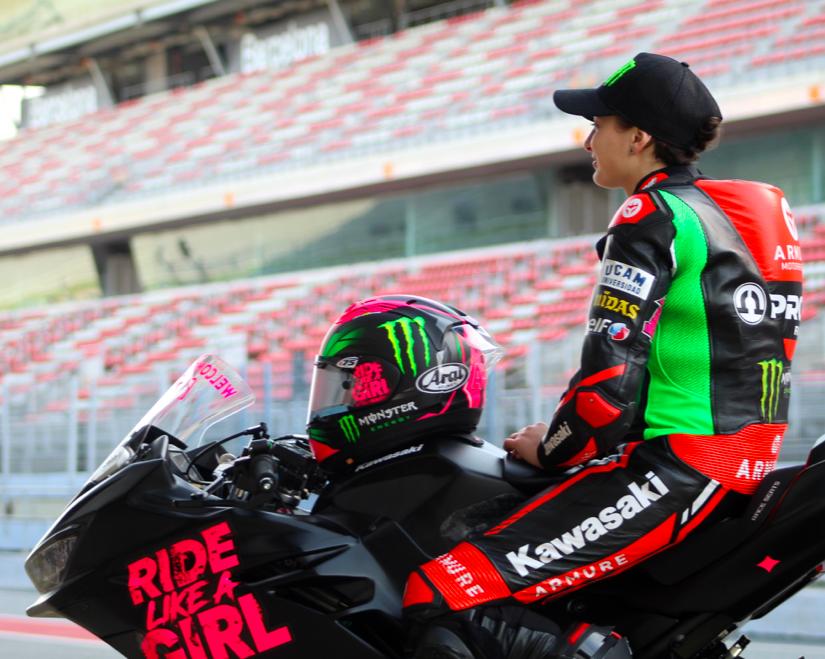 Ana Carrasco en el Circuit de Barcelona / Fuente: Twitter oficial del Circuit