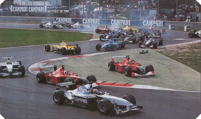 Inicio del Gran Premio de Italia. Imagen: statsf1.com