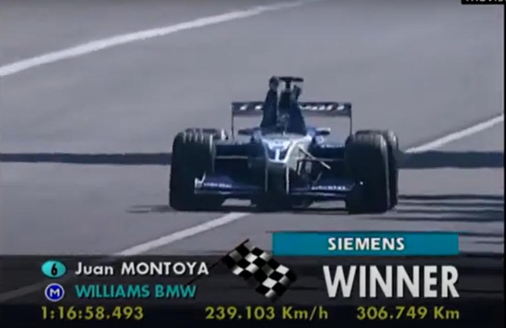 Momento del final de la carrera. Imagen: captura de pantalla, youtube.