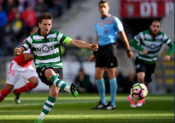 O Capitão do Sporting falhou uma grande penalidade ainda na 1ª parte | Foto: Mais Futebol