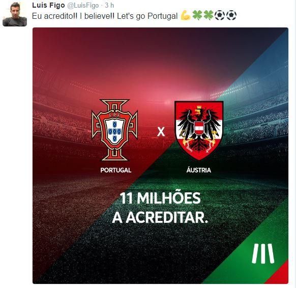 Foto: Twitter Oficial de Luís Figo