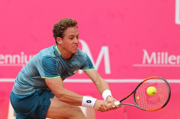 Roberto Carballes Baena is into the quarterfinals and will face Stefanos Tsitsipas. (Photo by Millennium Estoril Open)