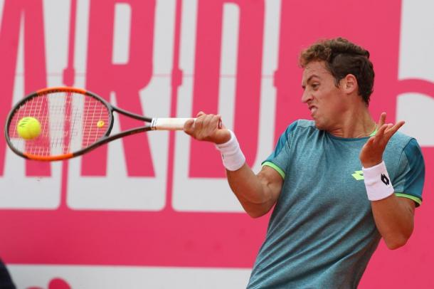 Roberto Carballes Baena playing this Thursday at the Millennium Estoril Open. (Photo by Millennium Estoril Open)