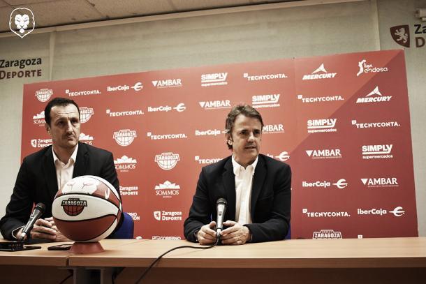 Cargol y Fisac ya dirigen las operaciones deportivas en Tecnyconta/ Foto: Basket Zaragoza