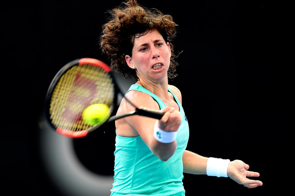 Carla Suarez Navarro fell in the first round of the Brisbane International this week | Photo: Bradley Kanaris/Getty Images AsiaPac