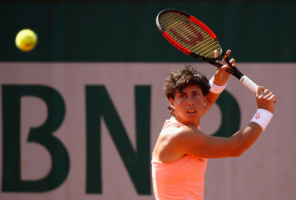 Carla Suarez Navarro and her one-handed backhand | Photo: Adam Pretty/Getty Images Europe