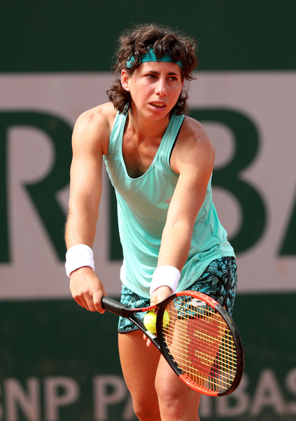 Carla Suarez Navarro held all her service games throughout the match | Photo: Matthew Stockman/Getty Images Europe