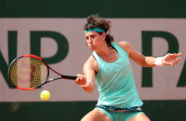 Carla Suarez Navarro's game was close to flawless today | Photo: Matthew Stockman/Getty Images Europe